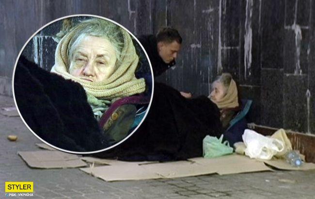 Чекає дочку: у Києві знайшли актрису, яка вже місяць живе у переході