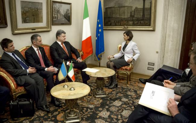 Фото: Петр Порошенко в Италии
