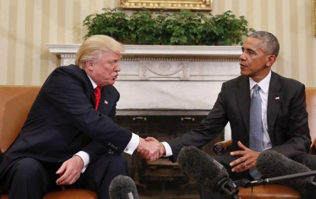 Фото: Дональд Трамп и Барак Обама
