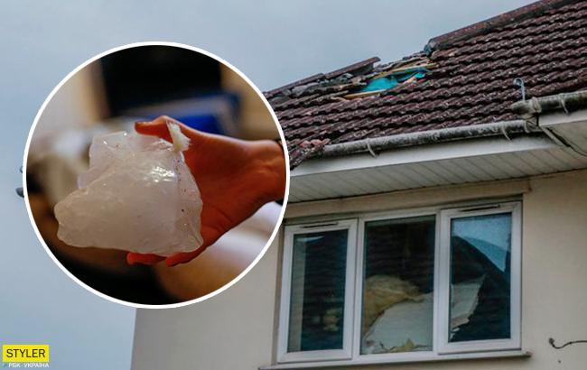 """""""Пекельне руйнування"""": брила льоду впала з неба і пробила дах будинку"""