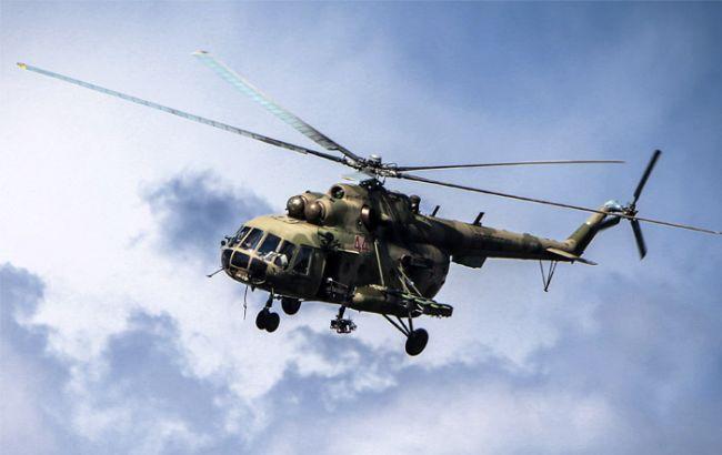 Фото: пограничники зафиксировали вертолеты РФ