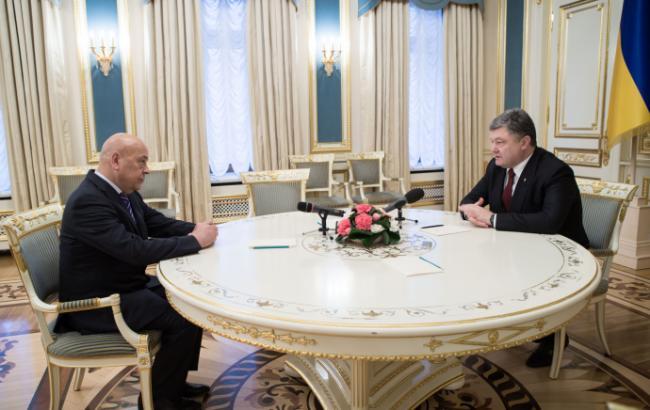 Фото: Геннадій Москаль і Петро Порошенко