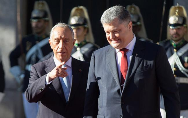 Фото: Марсело Ребелу ді Соза і Петро Порошенко (president.gov.ua)