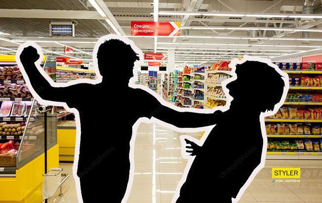 Фото: Драка в супермаркете (Коллаж РБК-Украина)