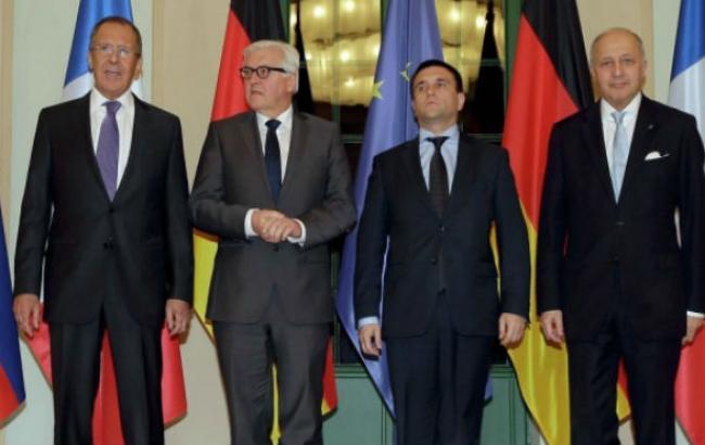 Глави МЗС України, Франції, Німеччини і Росії домовилися про відведення важкої артилерії в зоні АТО