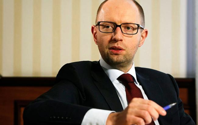 Фото: премьер-министр Арсений Яценюк