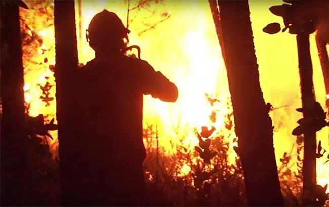 Фото: пожар в Португалии (webscreenshot/youtube/AFP news agency)