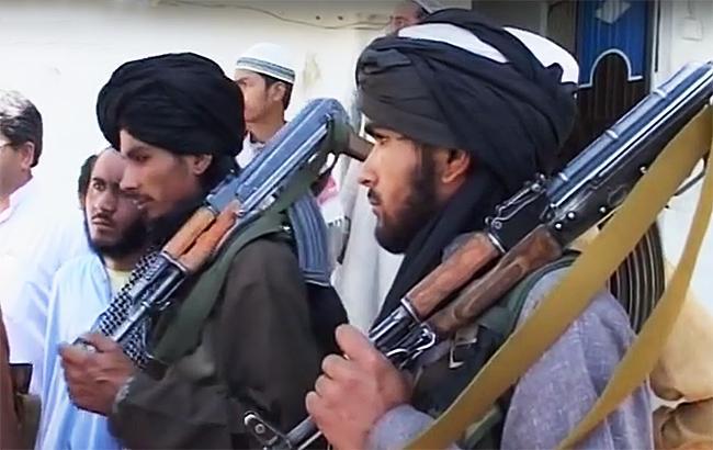 """Фото: бойовики """"Талібану"""" (webscreenshot YouTube/AFP news agency channel)"""