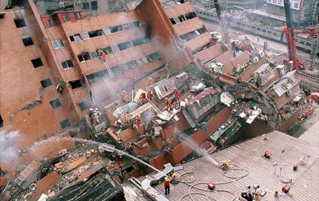 Фото: землетрус на Тайвані