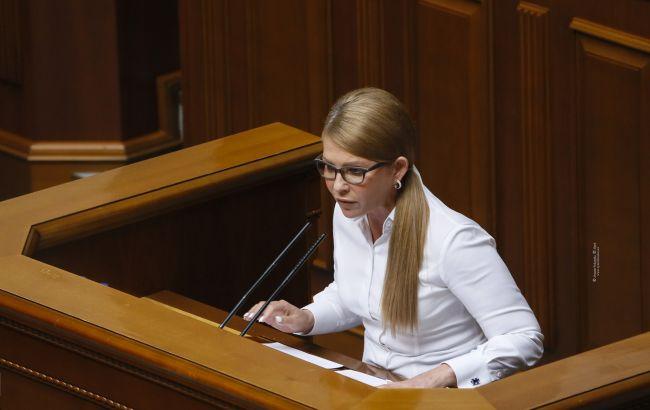 Тимошенко просит Раду поддержать законопроект о помощи пострадавшим от наводнений
