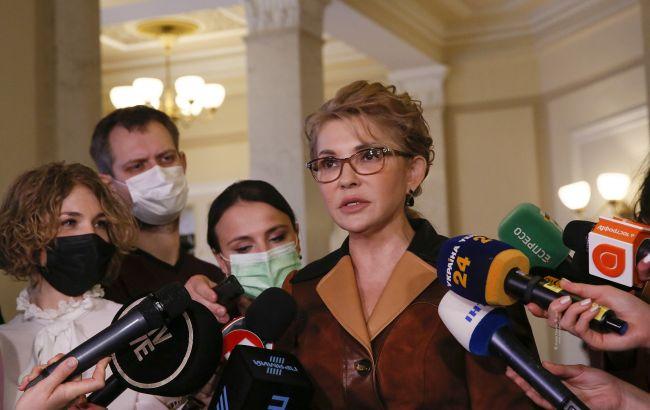 """Тимошенко: """"Батькивщина"""" продолжит борьбу за украинскую землю"""