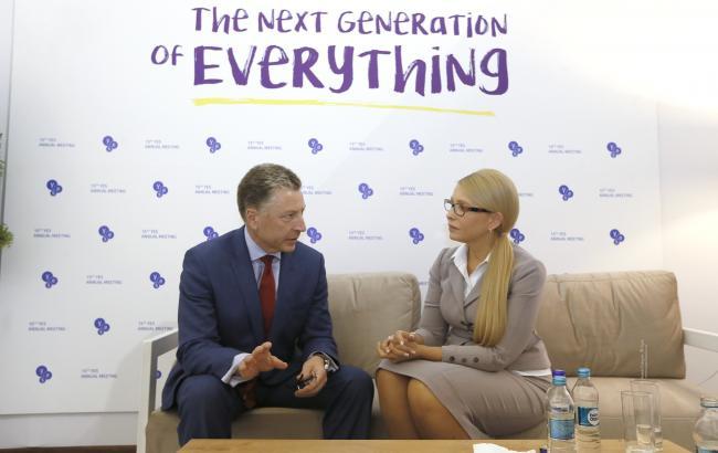 Фото: Юлія Тимошенко та Курт Волкер (ba.org.ua)