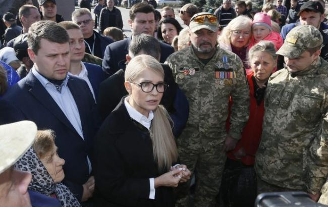 Фото: Юлия Тимошенко в г. Каменское (пресс-служба)