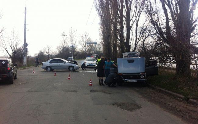 Фото: последствия ДТП в Славянске
