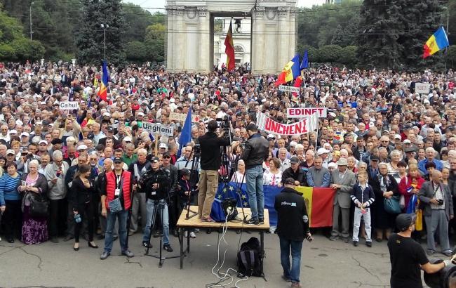 Фото: протести в Кишиневі