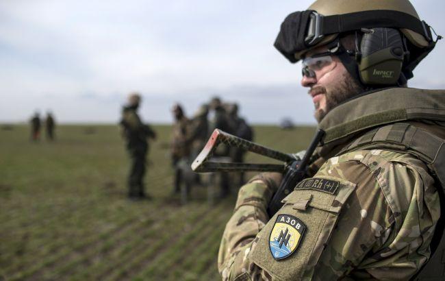 """Фото: боєць батальйону """"Азов"""""""
