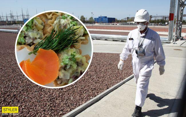 З'явилися фото страв з їдальні Чорнобиля: голубці і мініатюрні печеньки