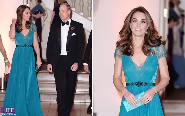 Шикарное декольте: Кейт Миддлтон поразила платьем на приеме