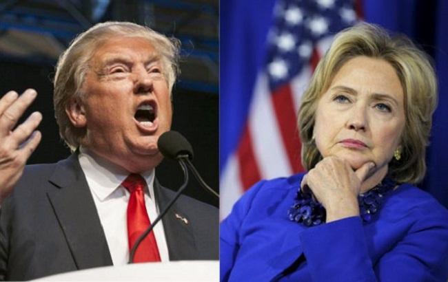 Выборы в США: опрос показывает 11% отрыва Клинтон от Трампа