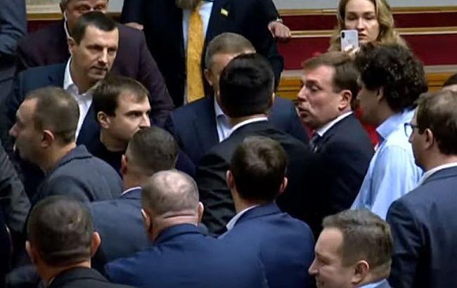 В Раде произошла потасовка между депутатами
