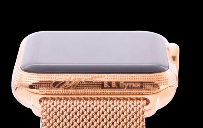 В РФ выпустили Apple Watch с подписью Путина