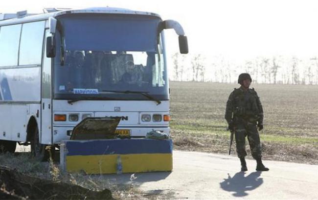 Госинспекция Украины прекратила пассажирское транспортное сообщение с зоной АТО