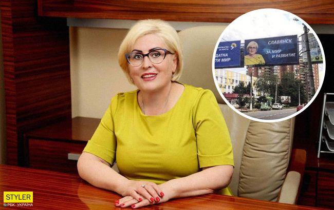 Скандальная Штепа собралась в мэры Славянска: в городе появились билборды на русском языке