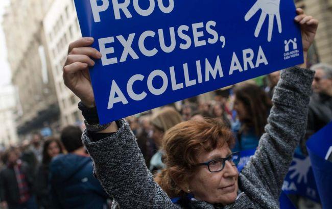 Фото: в Барселоне состоялся многотысячный марш с критикой миграционной политики власти