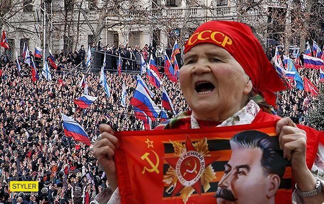 Фото: Протест в Крыму (Коллаж РБК-Украина)