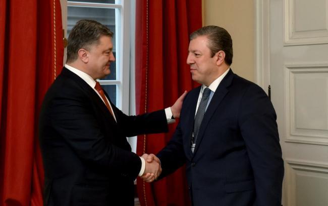 Фото: Порошенко і Квірікашвілі