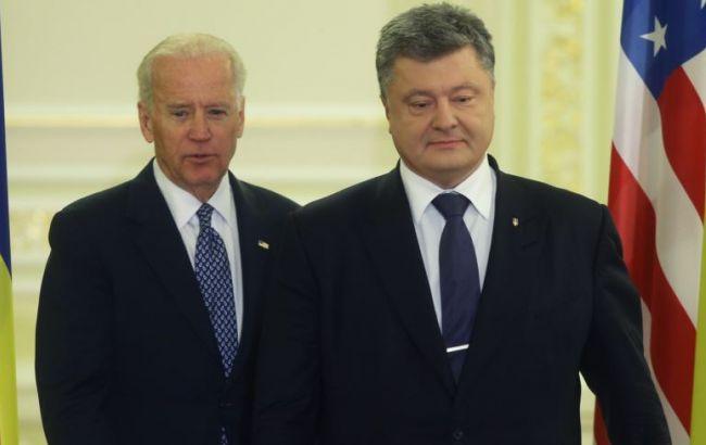 Фото: Джозеф Байден и Петр Порошенко провели телефонный разговор