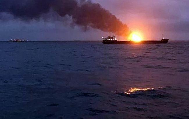 Из-за пожара на суднах возле Керченского пролива погибли 10 человек
