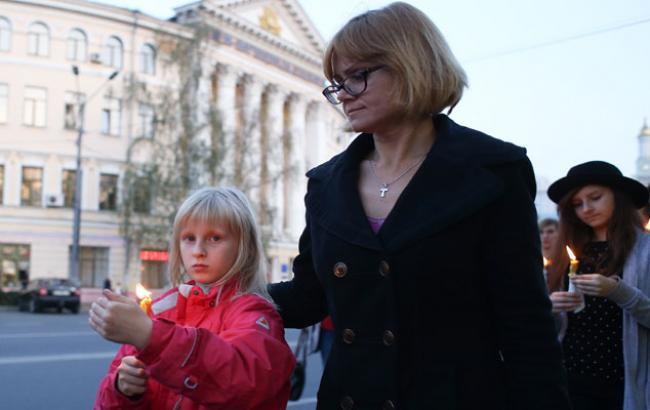 Фото: Участниками шествия стали семьи с детьми (Виталий Носач)