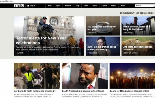 Сайты британской BBC оказались офлайн из-за сбоя утром 31 декабря