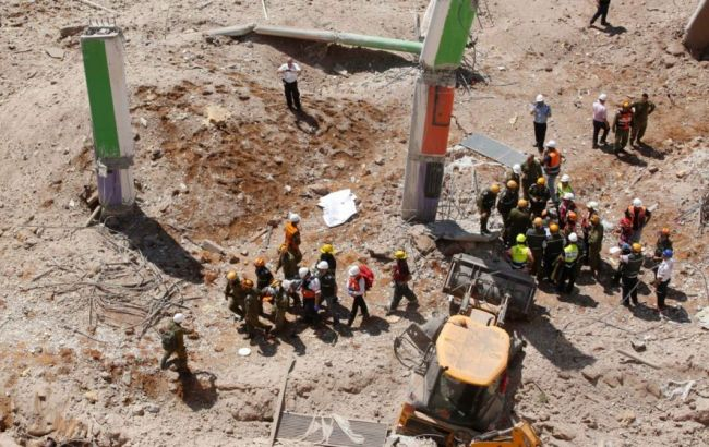 Фото: обрушение в Тель-Авиве