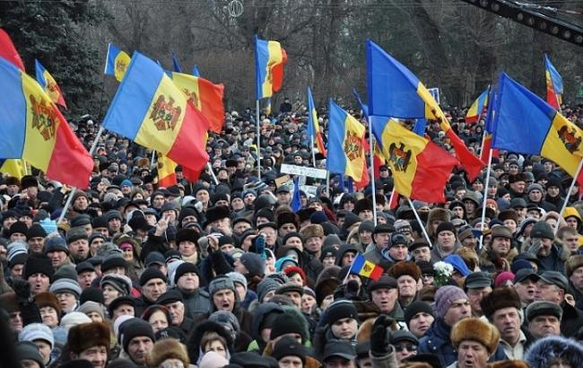 Фото: митинг в Кишиневе
