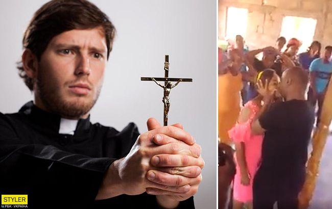 Изгнание демона поцелуями: пастор показал новый способ (видео)