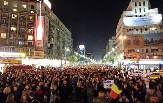 Бухарест: на акции протеста вышло до 30 тыс. человек