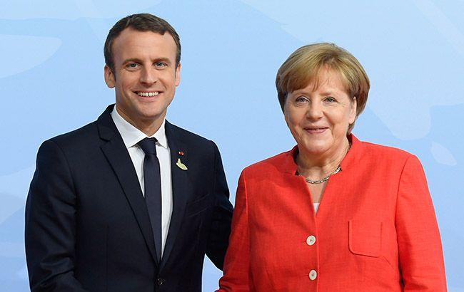 Меркель і Макрон закликали президентів України і РФ припинити вогонь на Донбасі