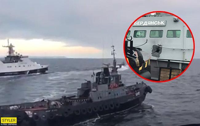 """""""На поражение"""": в сети опубликовали фото поврежденного катера """"Бердянск"""""""