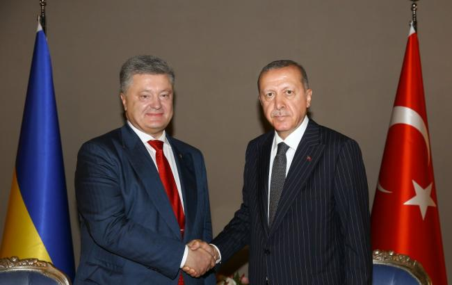 Порошенко та Ердоган обговорили майбутню угоду про зону вільної торгівлі