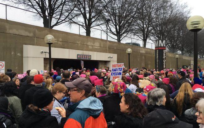 Фото: акция протеста против Трампа