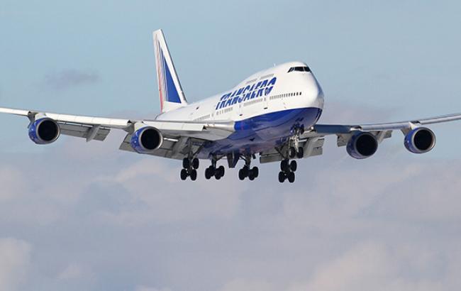 """""""Трансаеро"""" спростовує інформацію про скасування рейсів в Крим"""
