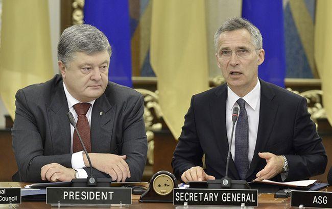 Фото: президент Украины Петр Порошенко и генеральный секретарь НАТО Йенс Столтенберг (president.gov.ua)
