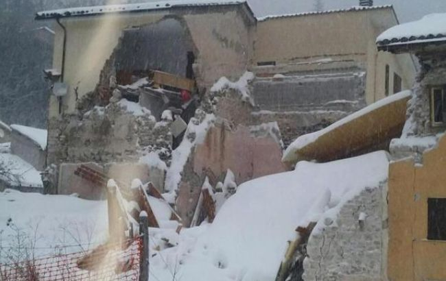 Сильное землетрясение случилось вИталии