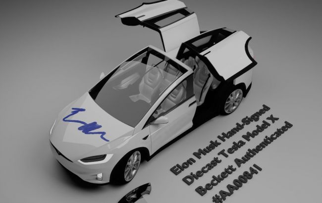 Tesla Model X с автографом Илона Маска продадут за несколько тысяч долларов