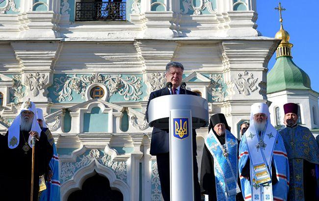 Порошенко сподівається, що об'єднавчий Собор пройде без конфліктів