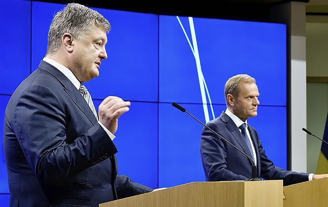 Фото: Петро Порошенко та Дональд Туск (president.gov.ua)