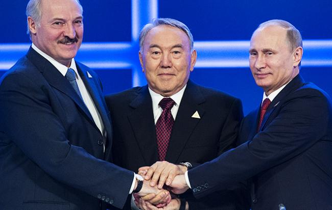 Олександр Лукашенко, Нурсултан Назарбаєв і Володимир Путін