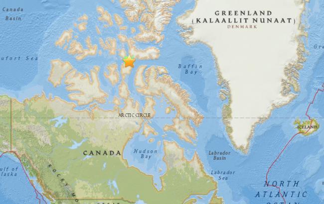 Фото: у берегов Канады произошло землетрясение
